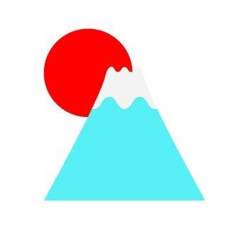 Sun and Mount Fuji