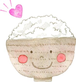 Heart and rice kun