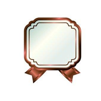 Bronze ribbon frame