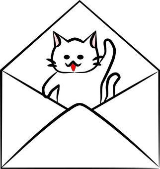 Nyanko-san在信封