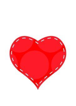 Dot Pattern Heart (Red)
