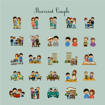 Couple illustration pack