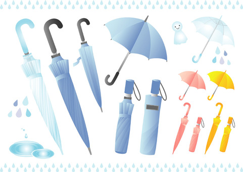 Jump umbrella vinyl umbrella folding umbrella set