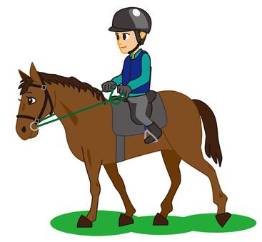 馬と厩務員02