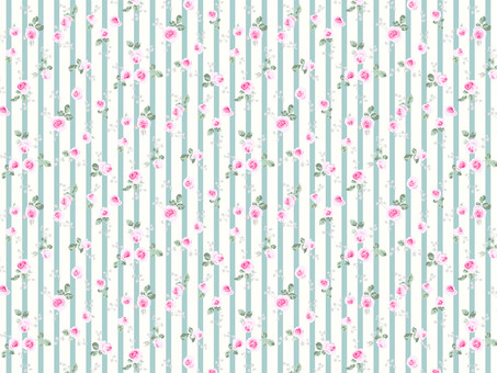 Textiles of roses and stripes _ 015