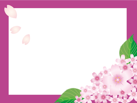 Sakura frame · background 3