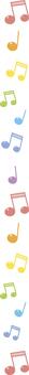 Musical note line - Vertical short