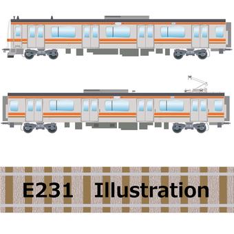 E231 series train Musashino Line