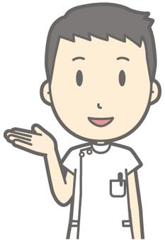 Male nurse - guide - bust