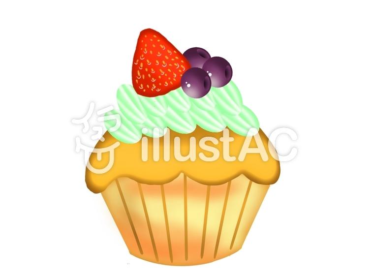 カップケーキ④のイラスト