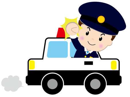 Police car (with people 1)