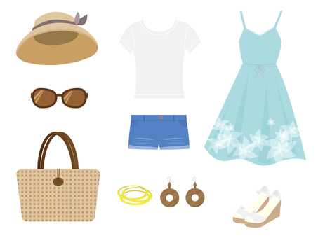Various summer fashion