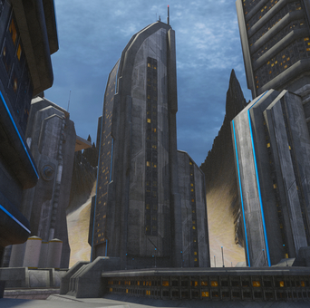 Scenery of planet city