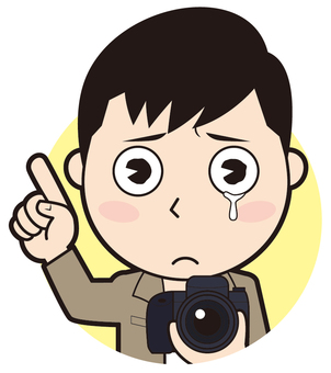 Pointing Male Photographer (Crying)