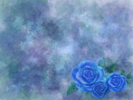 テクスチャ_青系薔薇