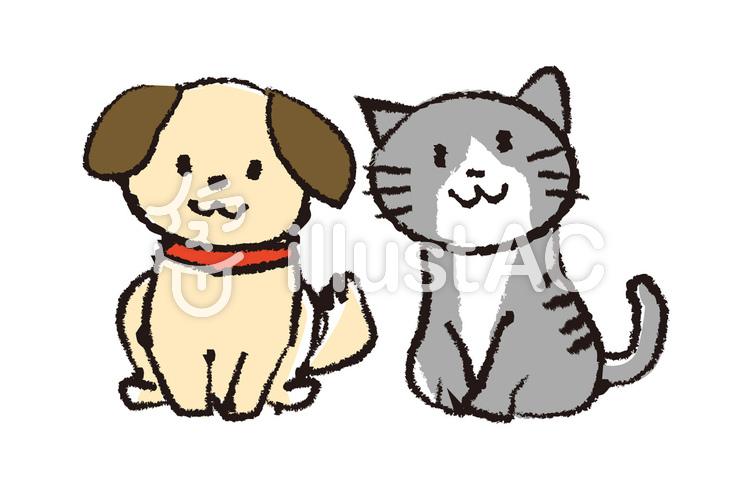 犬猫イラスト手書き風イラスト No 349968無料イラストなら