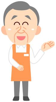 Old clerk sales clerk