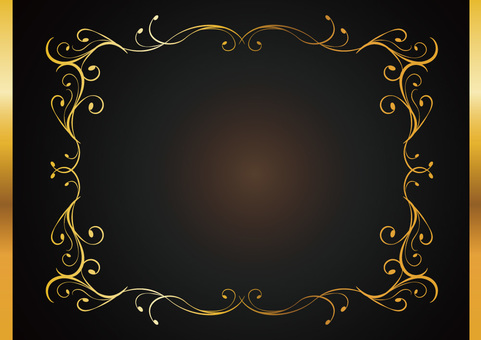 Decorative frame frame 001_ gold