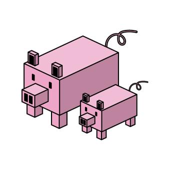 등각 돼지 (친자)