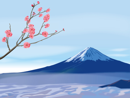 Plum and Mt. Fuji