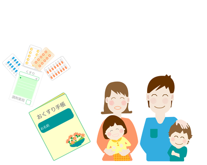 Medicine notebook, medicine notebook, couple, family, children