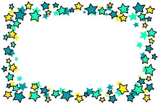 星のフレーム・青