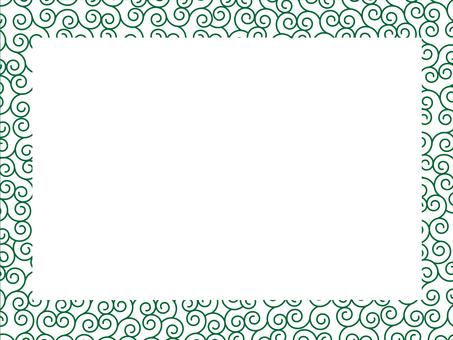蔓藤花紋模式框架4