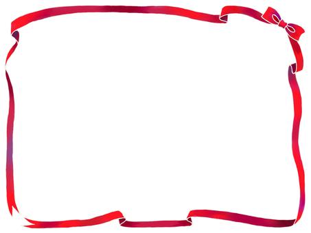 빨간 리본 프레임
