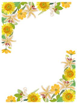 End of summer flower frame