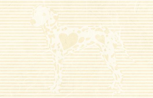 Dalmatian on beige Kraft paper