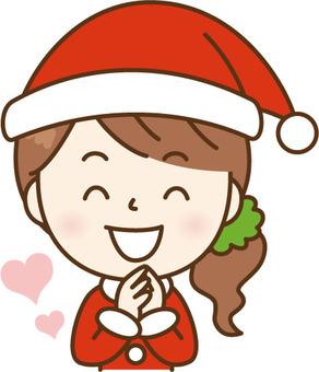 Santa's lady rejoicing