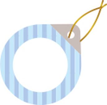 Cute tag striped blue