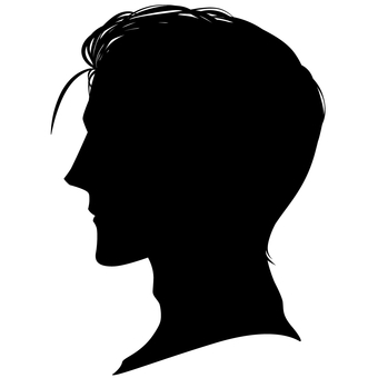 Male hairstyle Side profile silhouette 04