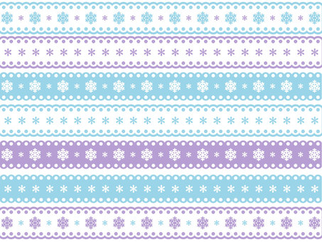Snow crystal pattern lace line