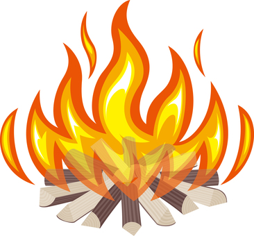 Bonfire Fire Flame Camp Outdoor