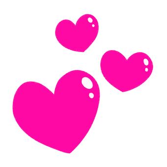 Many plump hearts (pink)