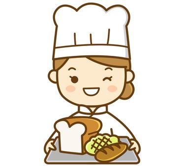 빵을 만드는 요리사