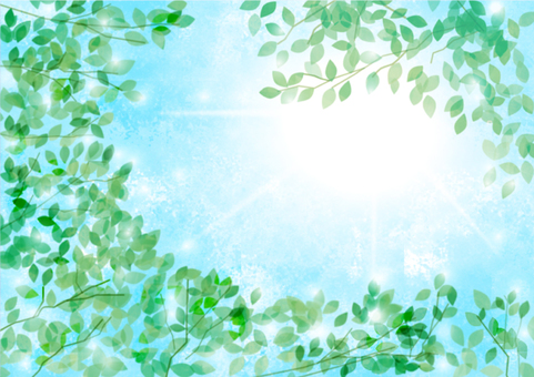 Watercolor touch sunshine and fresh green