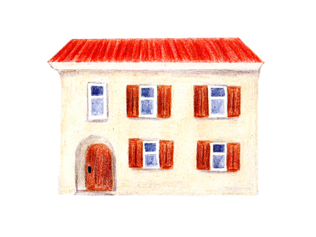 Home (color pencil drawing)