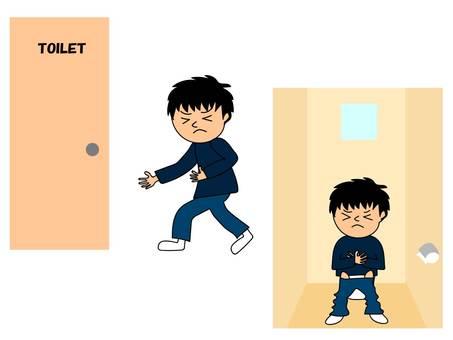 Toilet abdominal pain (boys)