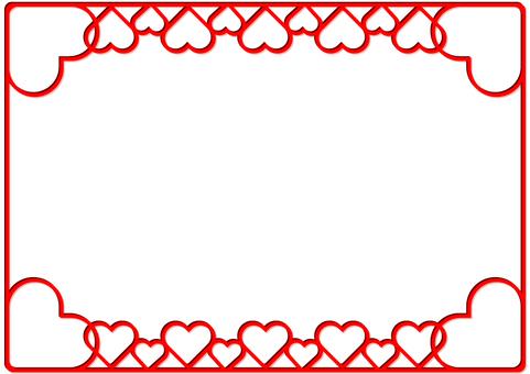 Simple heart frame frame