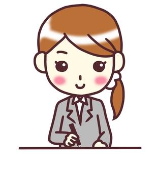 [여성 정장] 아래 _ 공부 _ 바스트 업