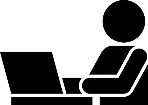 Business scene laptop pictogram