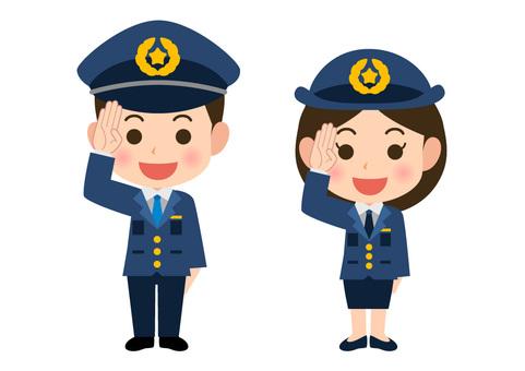 Police officer men and women