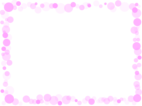 Bubble frame pink