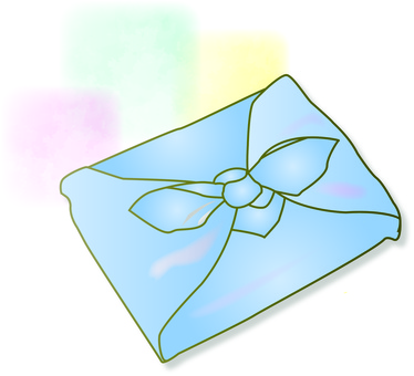 A gift wrapped in a wrapping cloth