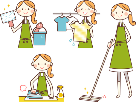 Simple person _ housewife 02 housework