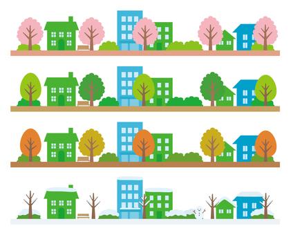 Townscape Line (Four Seasons)