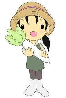 Harvest girls / radish