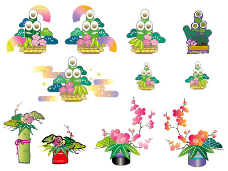 꽃 _ 소나무 장식 02